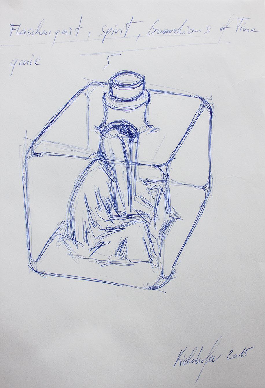 vodka bottle flaschengeist-spirit-genie-guardians-of-time-manfred-kielnhofer-glas-art-sculpture-bottle_7741