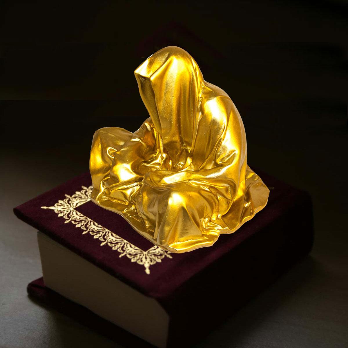book-quran-guardian-by-manfred-kili-kielnhofer-concept-2011-contemporary-art-sculpture-ghost-thed-death-faceless-shroud-coat-cloak-statue-religion-biennial-art-fair-design-show-museum-gallery--0465