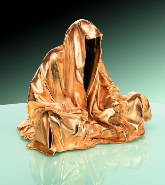 bronze gold contemporary art design sculpture fine arts guardians of time manfred kielnhofer art foundry strassacker