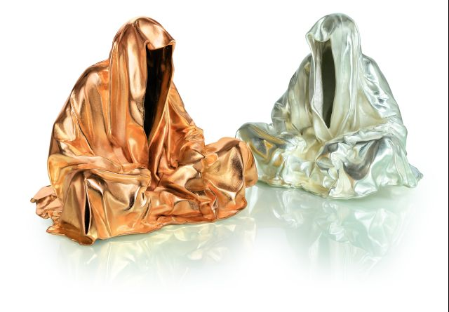 bronze silver gold contemporary art design sculpture fine arts guardians of time manfred kielnhofer art foundry strassacker