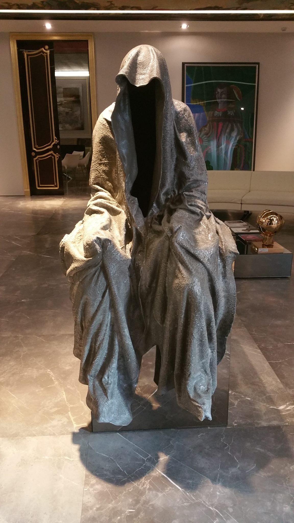 the italian sea group guardians of time carrara contemporary fine art sculpture statue modern design arts