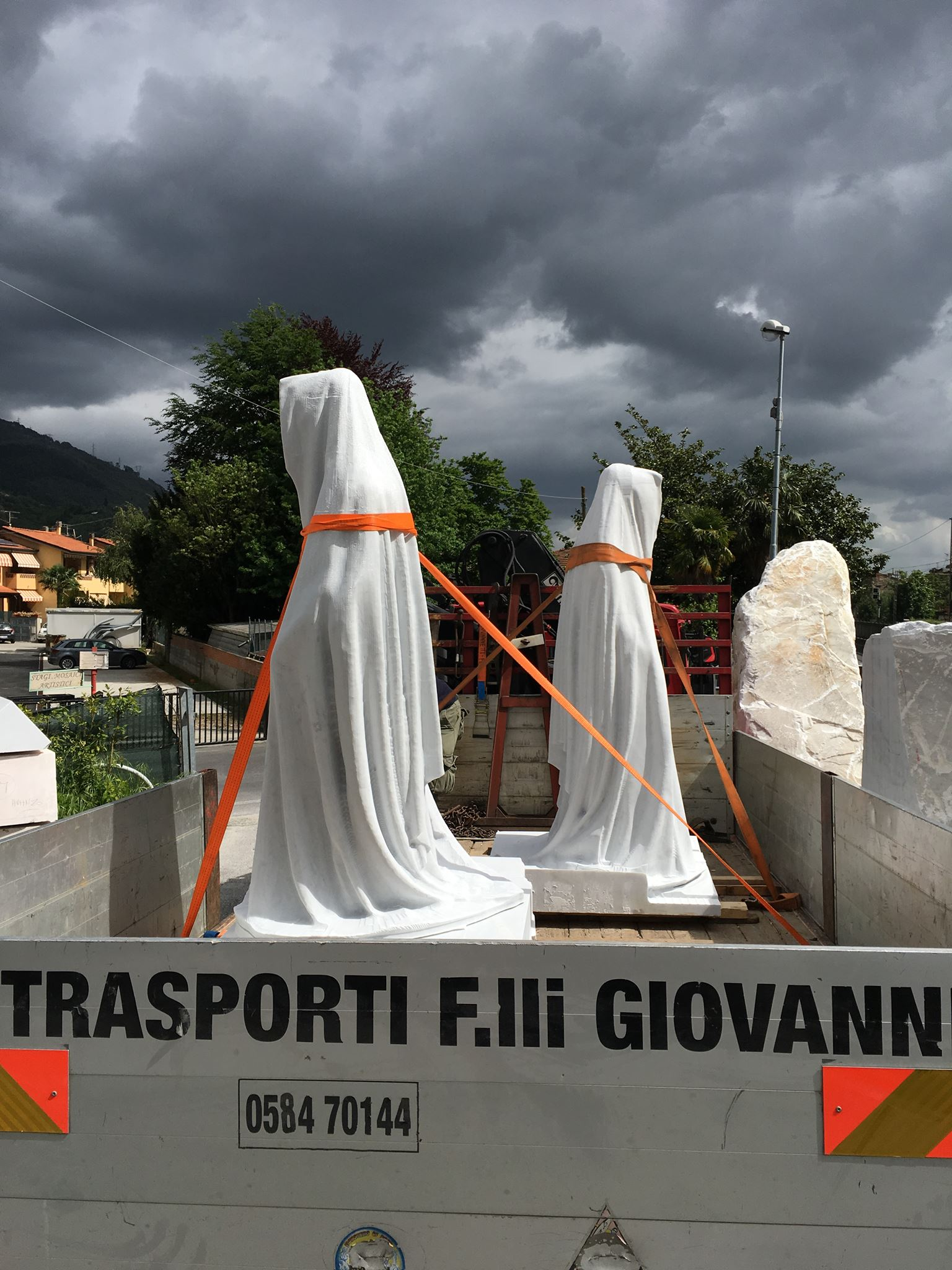 carrara marble stone galleni massimo avant gallery guardians of time by manfred kielnhofer contemporary art modern sculpture fine arts design statue